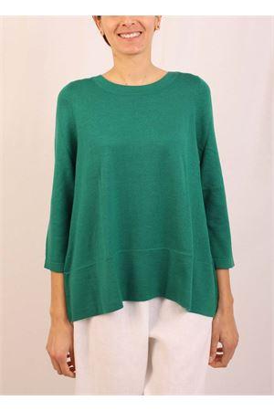 maglia in cachemire verde scuro Laboratorio Capri | 7 | 01SVAVERDE