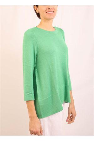 maglia in cachemire verde prato Laboratorio Capri | 7 | 01SVAVERDEPRATO
