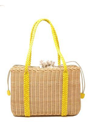 Yellow handles rattan bag  Laboratorio Capri | 31 | 102YELLOW