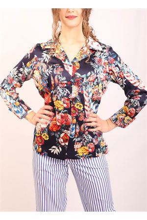 Stretch silk shirt with floral pattern Laboratorio Capri | 6 | BLUSABLU