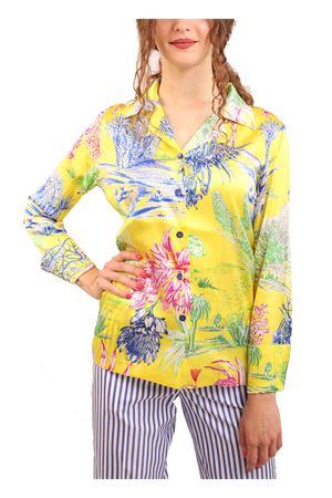 Yellow silk blouse  Laboratorio Capri | 6 | BLUSAGIALLO