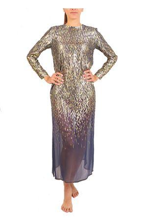 Long evening dress in degradé fil coupé Laboratorio Capri | 5032262 | CASTELLOBLUORO