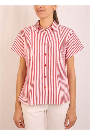 Short sleeve shirt with white and red stripes Laboratorio Capri | 6 | CATENARIGAROSSA