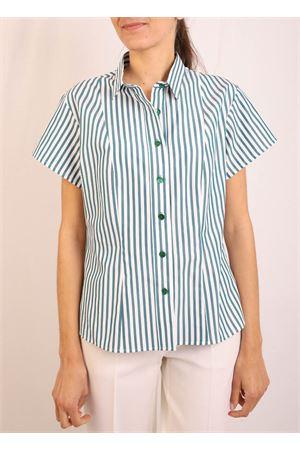 Short sleeve shirt with white and green stripes Laboratorio Capri | 6 | CATENARIGAVERDE