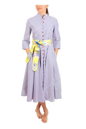 White and blue striped shirt dress Laboratorio Capri | 5032262 | CERIORIGAAZZURRA