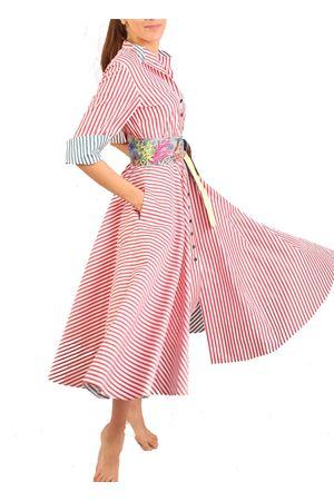 •Red and white striped shirt dress Laboratorio Capri | 5032262 | CERIORIGAROSSA