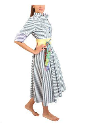 Green and white striped shirt dress Laboratorio Capri | 5032262 | CERIORIGAVERDE