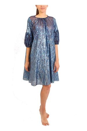 Blue silk evening mini dress Laboratorio Capri | 5032262 | DAMECUTABLUAZZURRO