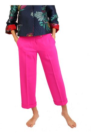 Fuchsia tailored capri pants Laboratorio Capri | 9 | DANDYCREPEFUXIA