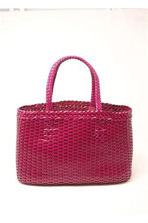 Handmade bag in fuchsia woven leather Laboratorio Capri | 31 | LAB51FUCSIA