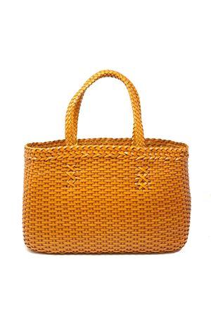 Handmade bag in ocra yellow woven leather Laboratorio Capri | 31 | LAB51OCRA