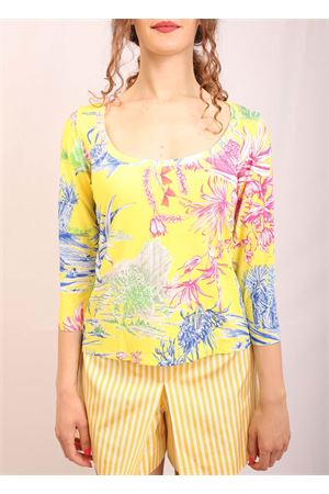jersey t-shirt with wide neckline Laboratorio Capri | 8 | MESOLACACTUSGIALLO