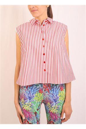camicia a righe rosse e bianche Laboratorio Capri | 6 | MONETARIGAROSSA