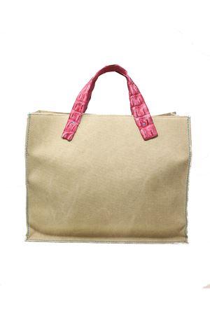 Pvc bag with handles in fuchsia crocodile leather Laboratorio Capri | 31 | NINAFUCSIA