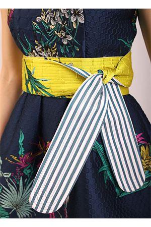 Cintura Obi con fiori e righe Laboratorio Capri | 22 | OBIBELTGIALLO