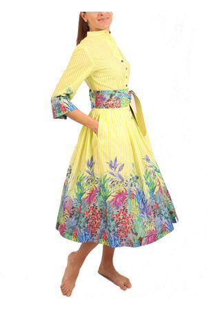 Yellow and white striped shirt dress Laboratorio Capri | 5032262 | PIAZZETTARIGAGIALLA