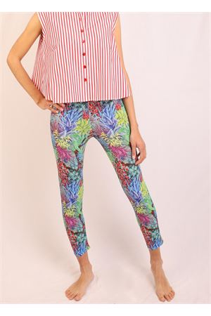leggings in jersey with leaf pattern Laboratorio Capri | 9 | PIZZOLUNGOFOGLIEMULTI