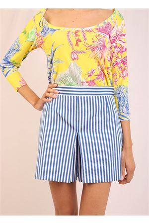 Blue and white striped shorts Laboratorio Capri | 30 | PRIMULAAZZURRO