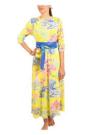 Long jersey dress with floral pattern Laboratorio Capri | 5032262 | TRAGARACACTUSGIALLO