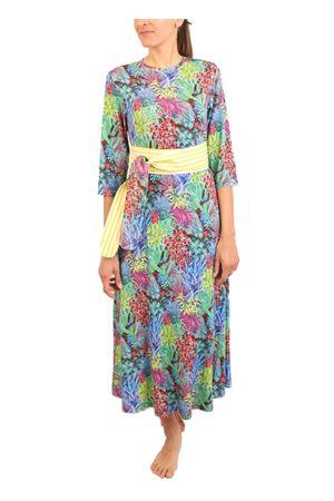 multicolored pattern jersey long dress Laboratorio Capri | 5032262 | TRAGARAFOGLIEMULTI