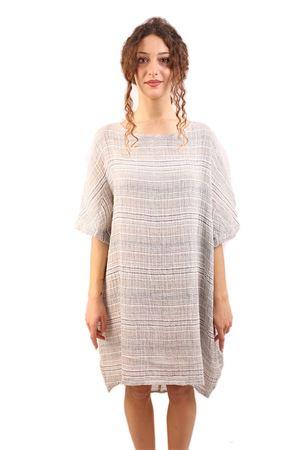 Longuette linen tunic M&E | 5032262 | ABITO MIRIAM MRIGHINA JEANS GREZZO