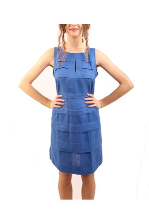 Blue linen dress M&E | 5032262 | ABITOCAMELIABLUETTE
