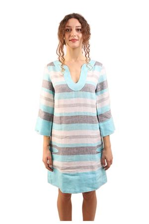 Colored stripes linen dress M&E | 5032262 | ABITOFEDERICAGRIGIO