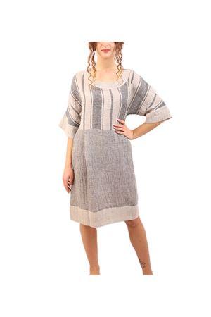 vestito in lino con maniche 3/4 M&E | 5032262 | ABITOFLORIANAPWORKJEANS