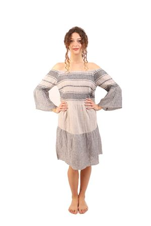 Long sleeves linen dress M&E | 5032262 | ABITONORAPWORKGREZZO