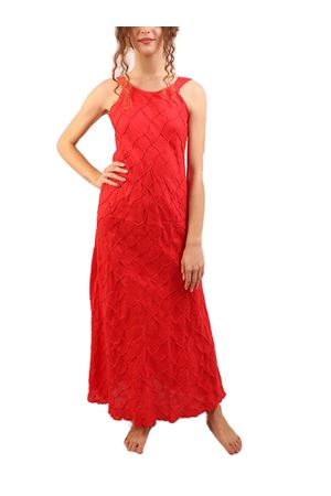Red long linen dress M&E | 5032262 | ABITOPROCIDAROSSO
