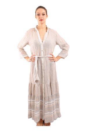 Long linen dress with waist band M&E | 5032262 | ABITOREBECCAPWORK