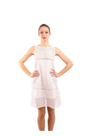 White linen short dress M&E | 5032262 | ABITOSELENEBIANCO