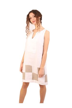 Longuette linen white dress M&E | 5032262 | ABITOSOLEBIANCO