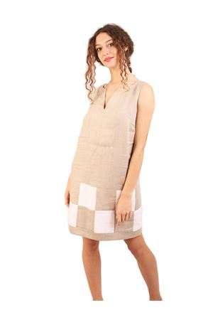 Linen longuette beige dress M&E | 5032262 | ABITOSOLEGREZZO