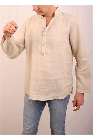 Raw beige linen shirt M&E | 6 | CAMICIA BENNYGREZZO