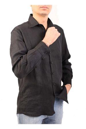 Camicia da uomo in lino nero M&E | 6 | CAMICIA CLASSICANERO