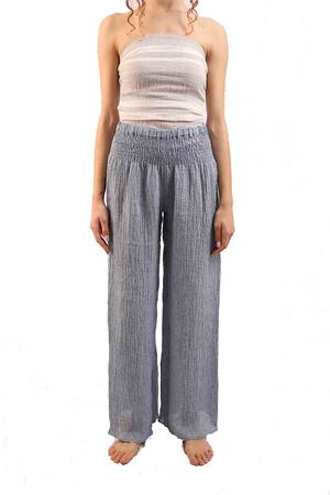 Long elasticated linen trousers M&E | 9 | PANTAARANCIAJEANS