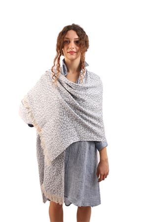 Long linen stole with fringes M&E | 61 | STOLAMACULATAJEANS