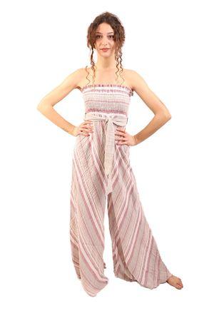 Long linen suit M&E | 5032262 | TUTA MORENARIGAAMARANTO