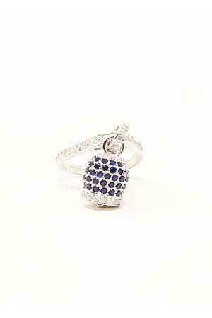 anello con campanella di capri in argento e zirconi Manè Capri | 5032250 | ANELLOCAMPANELLAZIRCBLUCAPRI