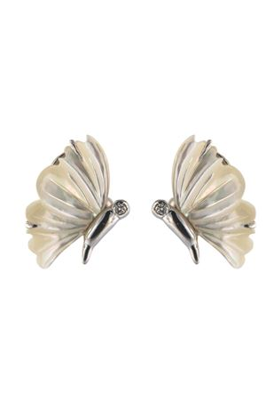 •Mother of pearl butterfly earrings Mediterranee Passioni | 48 | ORECCHINICRISALIDEBIANCO