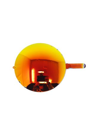 occhiali da sole artigianali con lenti arancioni Medy Ooh | 53 | NERUDATARTARUGAARAN
