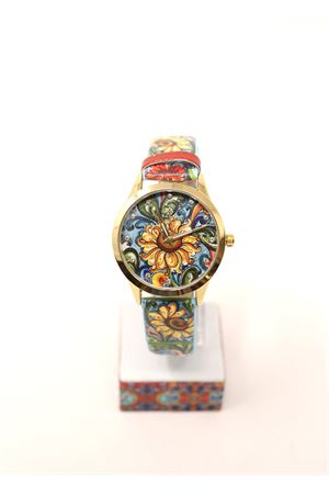 ladies watch with sunflower pattern Mizzica Time | 60 | MB107AZZURRO