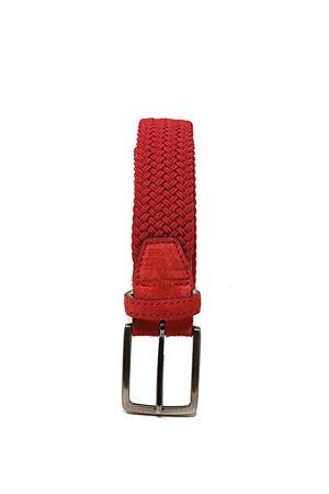 cintura elastica uomo rossa Paolo Da Ponte | 22 | CINTURAELROSSO