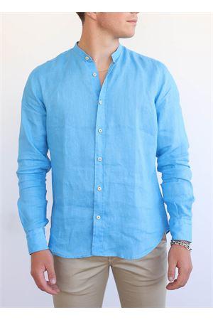 camicia uomo coreana blu Portofiori | 6 | E1909TURCHESE