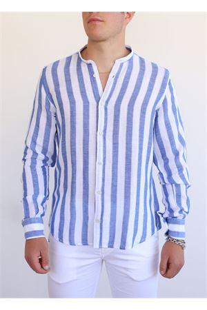 camicia coreana uomo 55% lino 45% cotone Portofiori | 6 | E2034BIANCO