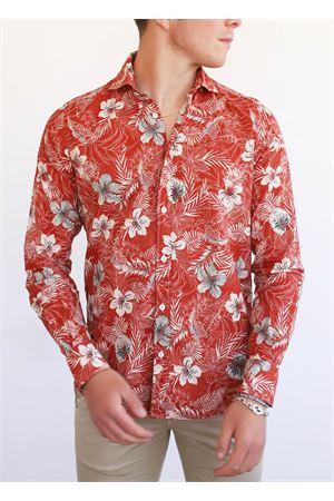 camicia uomo rossa a fantasia hawaiana Portofiori | 6 | E2081ROSSO