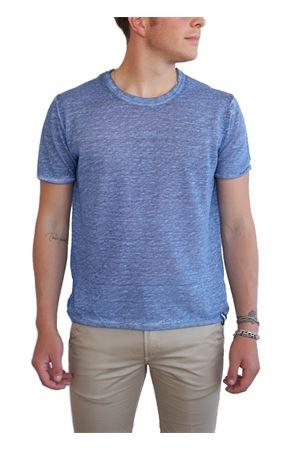 t-shirt girocollo lino blu Portofiori | 8 | GIROCOLLOAVION