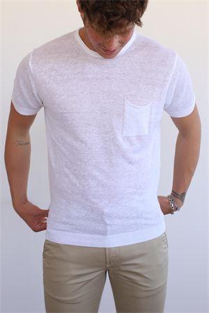 t-shirt girocollo lino uomo Portofiori | 8 | GIROCOLLOBIANCO