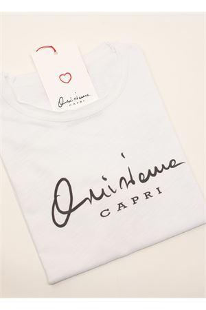 Qui si ama Capri cotton t-shirt for girl  Qui si ama | 8 | QUISIAMATSHIRTBBIANCO